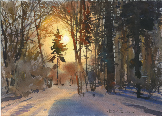Anton Batov. Forest contre