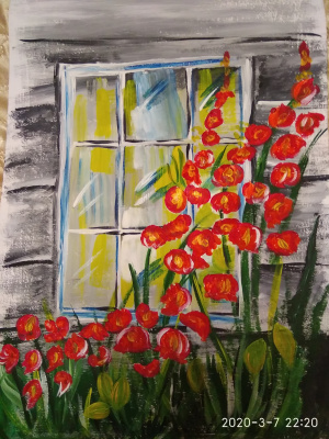 Ekaterina Kalyaeva. Window to the garden