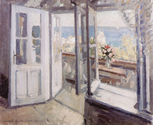 Konstantin Korovin. Balcony in the Crimea