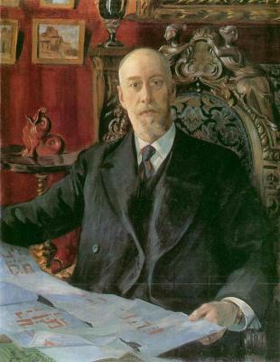 Boris Mikhailovich Kustodiev. Portrait Of N. K. von Mecca