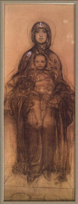Mikhail Vrubel. The virgin with the Baby (sketch for the iconostasis of St. Cyril's Church in Kiev)