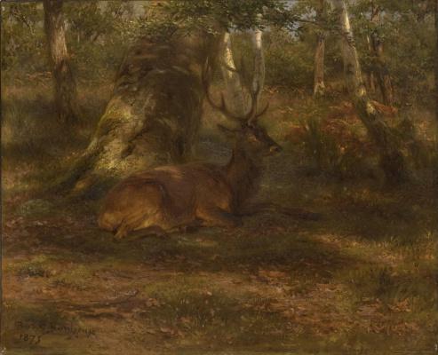 Rose Bonhur. Deer in the forest
