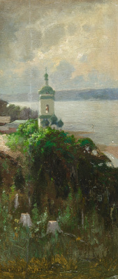 Jan Stanislavsky. Church on the banks of the Dnieper