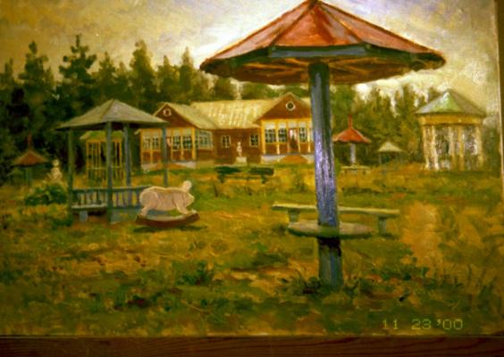 Николай Николаевич Хлебников. Детский сад в Малаховке