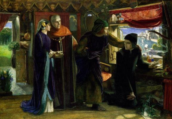 Данте Габриэль Россетти. Данте в первую годовщину смерти Беатриче