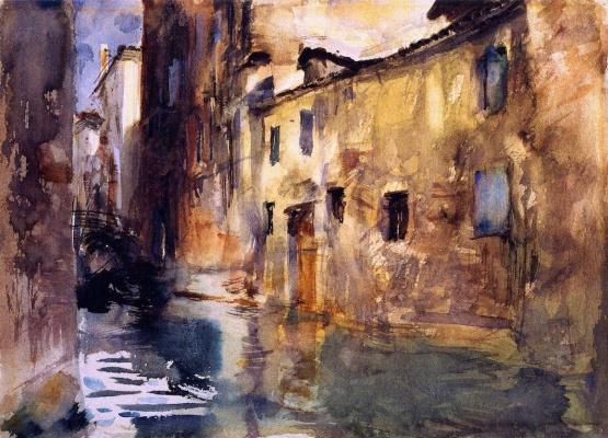 Джон Сингер Сарджент. Боковой канал. Венеция