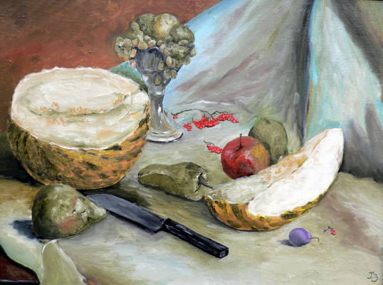 Сергей Николаевич Ходоренко-Затонский. Still life with melon