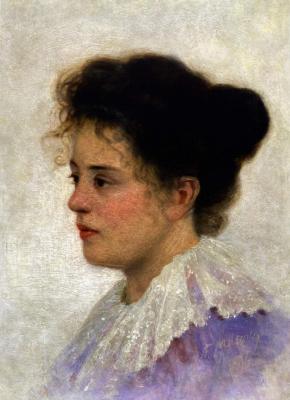 Grigory Grigorievich Myasoedov. Female portrait . Zaporizhia Art Museum, Ukraine