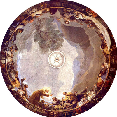 Francisco Goya. The fresco of the chapel of St. Anthony Florida
