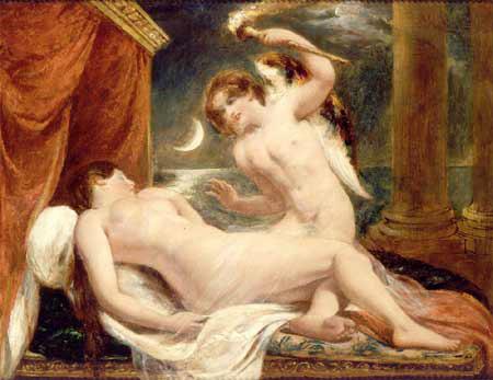 Etty William. Cupid and Psyche