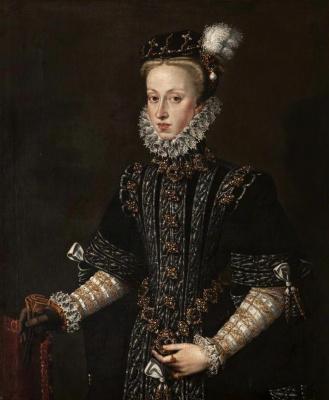 Алонсо Санчес Коэльо. Анна Австрийская, четвёртая жена короля Филиппа II