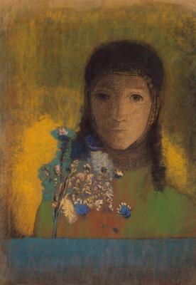 Odilon Redon. Woman with wildflowers