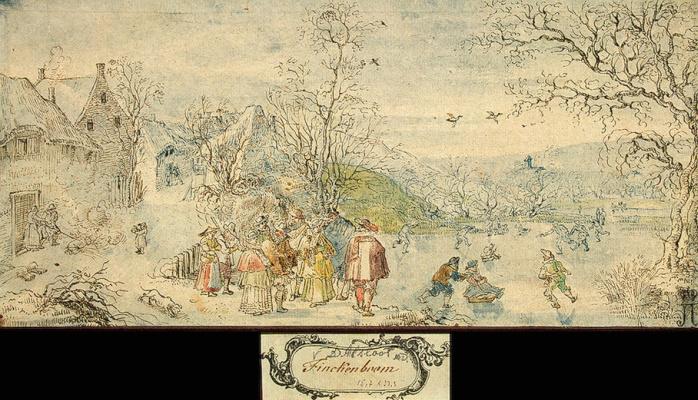 Денис Ван Алслут. Зимний пейзаж