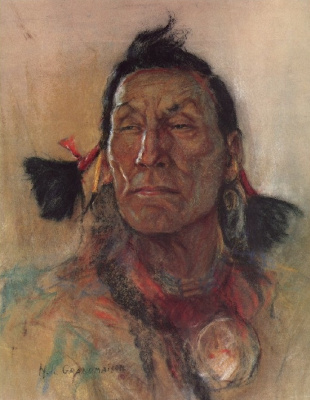 Николас де Гранмезон. Индейский портрет 64
