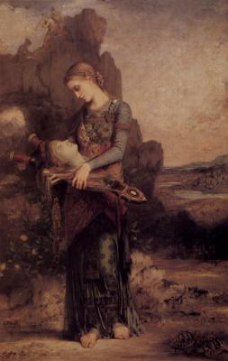 Гюстав Моро. Фракиянка с головой и лирой Орфея