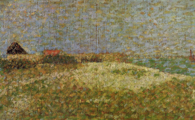 Georges Seurat. Fort Samson in Grandcamp, sketch