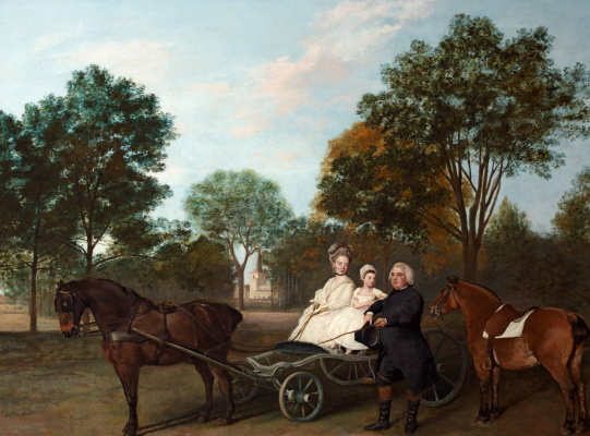 George Stubbs. The Reverend Robert Carter Fellower and his family