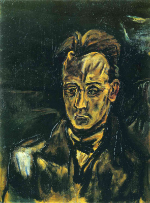 Oskar Kokoschka. Portrait of composer Anton von Webern