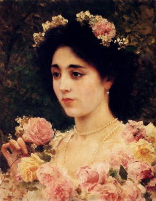 Федерико Андреотти. Дама в розовых розах