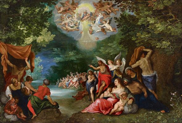 Jan Bruegel The Elder. The Baptism Of Jesus Christ