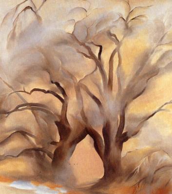 Georgia O'Keeffe. Winter poplar IV