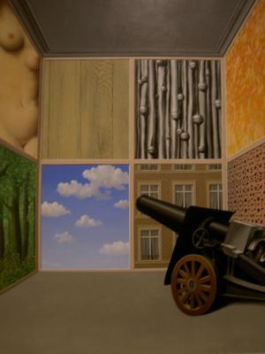 René Magritte. Cannon