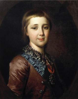 Дмитрий Григорьевич Левицкий. Портрет великого князя Александра Павловича в детстве