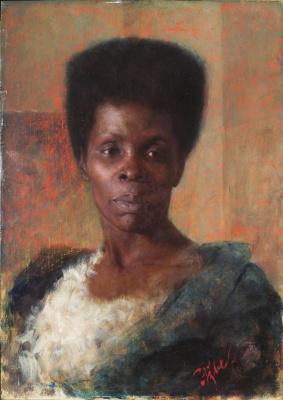 Anton Azhbe. Overseas. Portrait of a black woman