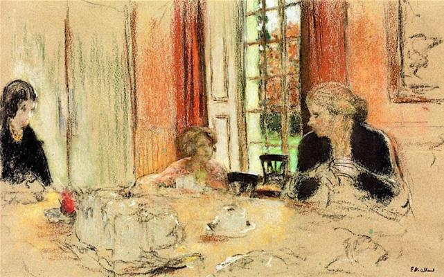 Jean Edouard Vuillard. The dining room in Claye