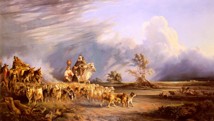 Консалво Карелли. Козы и пастух