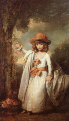 Gilbert Stuart. The girl at the tree