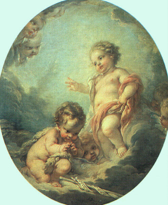 Francois Boucher. Christ and John the Baptist