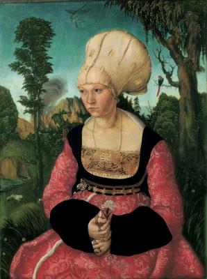 Lucas Cranach the Elder. Portrait Of Anna Cuspinian