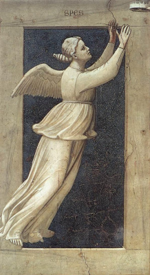 Giotto di Bondone. Hope. Seven virtues