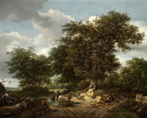 Jakob van Isaacs Ruisdael. Big oak