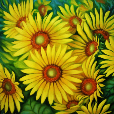 Natalia Viktorovna Tyuneva. Sunflowers