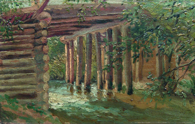 Константин Егорович Маковский. Мост через речку