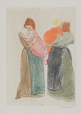 Theophile-Alexander Steinlen. Two mothers