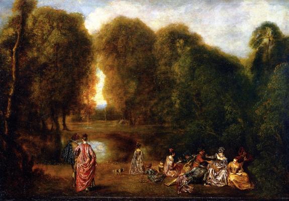 Antoine Watteau. Society in the Park