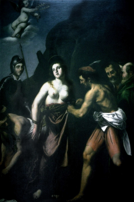 Джованни Бальоне (Баглионе). Мученичество святой Агаты