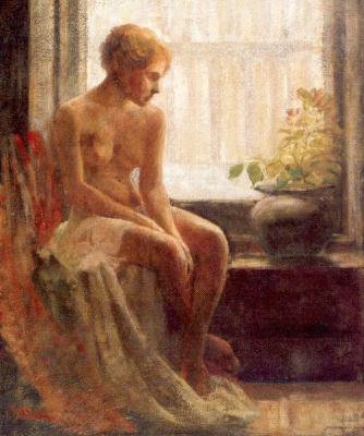 Фредерик Мулхаупт. Девушка у окна