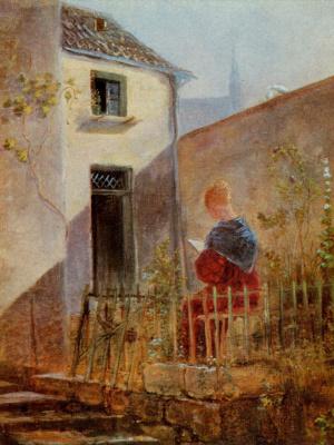 Karl Spitzweg. In the garden