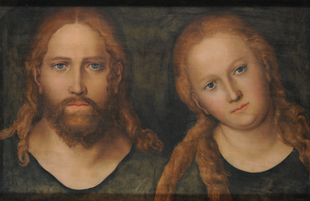Lucas the Younger Cranach. Jesus and Mary Magdalene