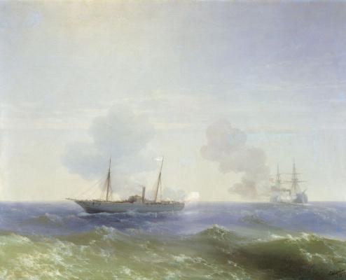 Бой парохода «Веста» с турецким броненосцем «Фехти-Буленд» в Чёрном море 11 июля 1877 года