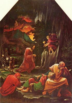 Альбрехт Альтдорфер. Моление о чаше: Алтарь св. Себастьяна духовного училища августинских каноников св. Флориана близ Линца, левая внутренняя створка