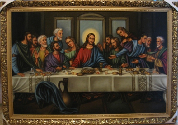Ядвига Сенько. The last Supper (oil on canvas)