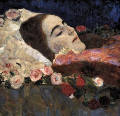 Gustav Klimt. RIA Munk on her deathbed