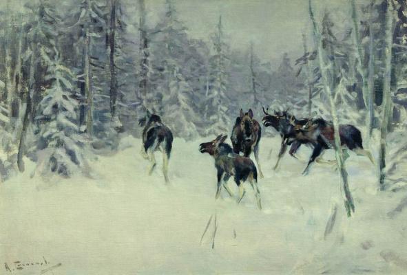 Alexey Stepanovich Stepanov (1780-1887). Moose 1919