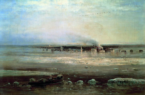 Alexey The Kondratyevich Savrasov. Spill the Volga near Yaroslavl