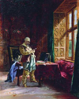 Валерий Иванович Якоби. Перед дуэлью. 1877